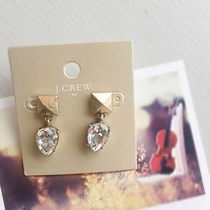 J crew pyramid drop earrings